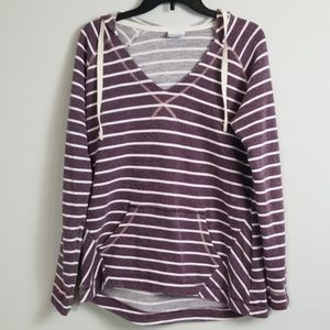 Columbia V Neck Oversized Pullover Hoodie Size M